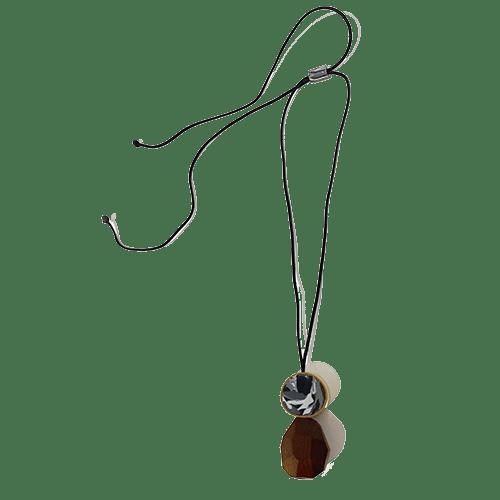 Collana goccia - marmo nero