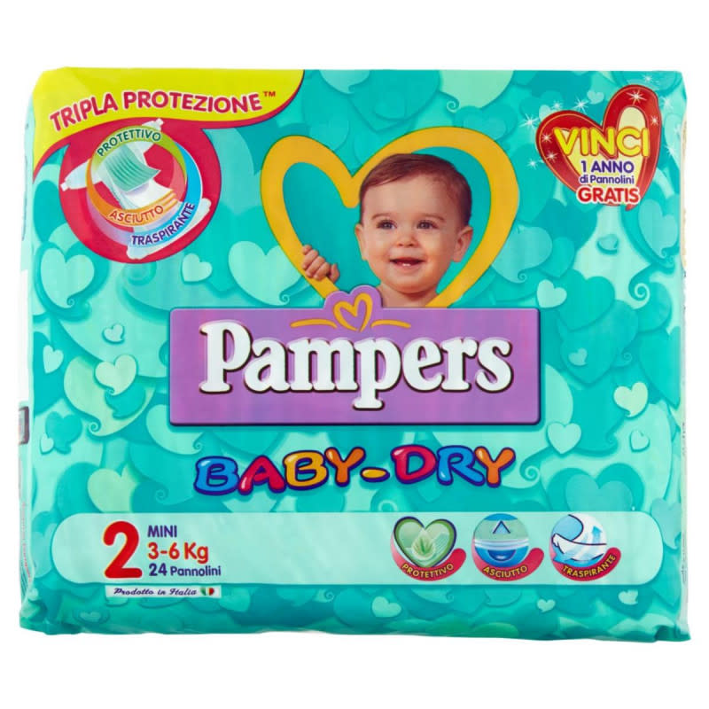 Pampers Baby Dry MINI (3-6 kg) 24 pannolini