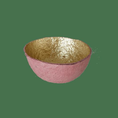 Ciotola carta recuperata S - rosa