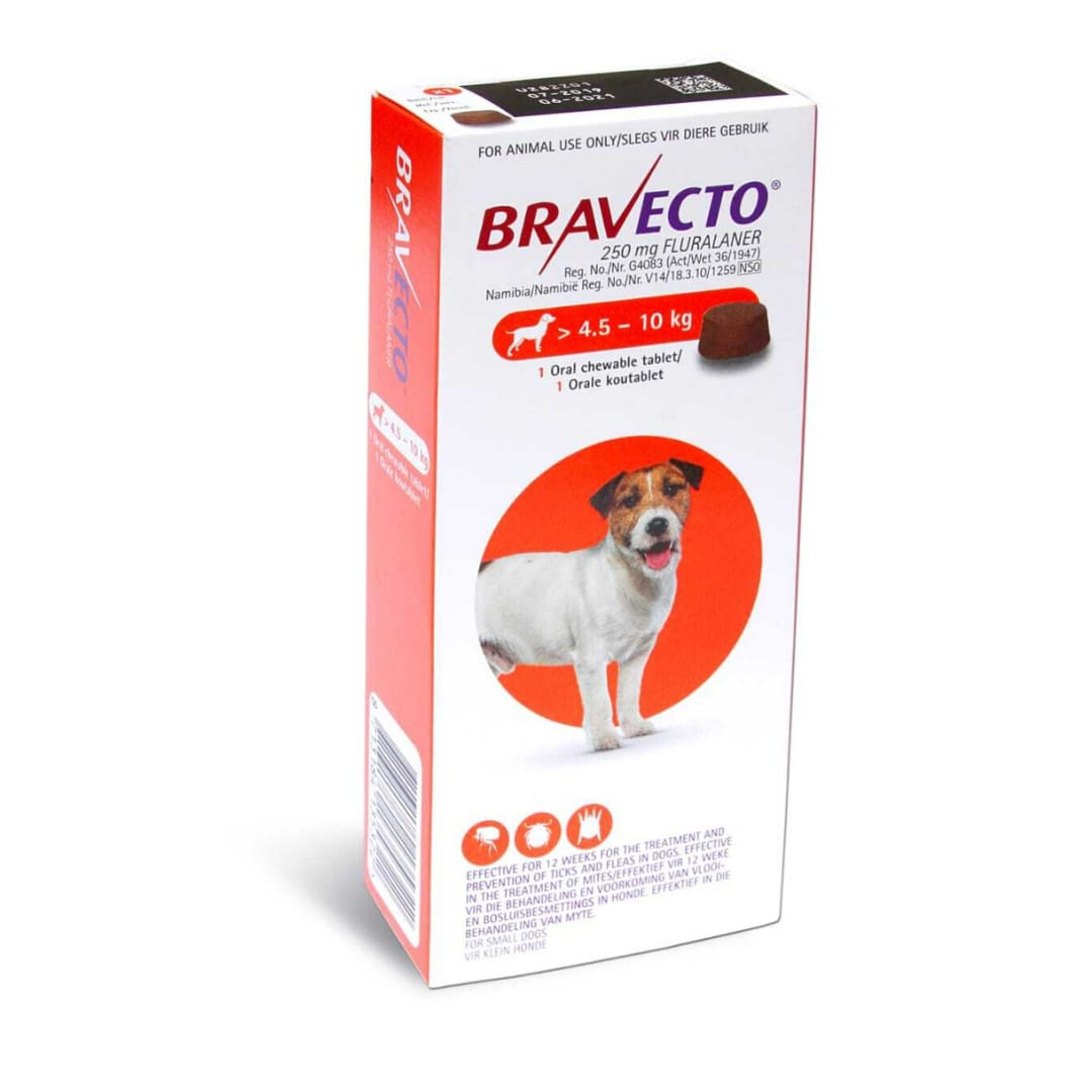 Bravecto 250Mg (4.5 - 10Kg)