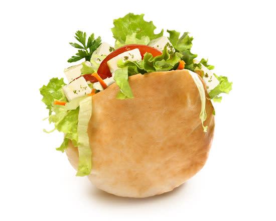 Pita Queijo Feta com Salada