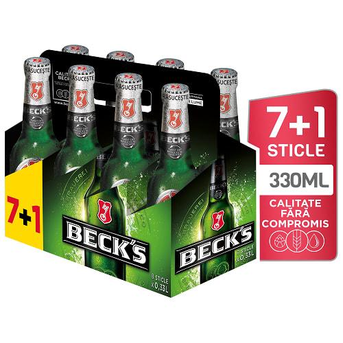 Beck's Sticla 8 x 330ml (7+1)