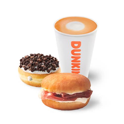 Brunch Gourmet Dunkin Sandwich Café