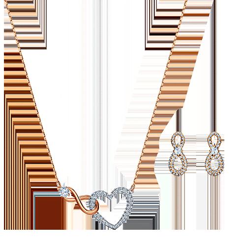 Set Swarovski Infinity Heart - ID  5521040