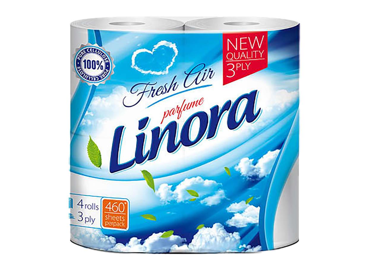 Хартия тоалетна Linora аромат Fresh Air Parfume (4бр) / 30635
