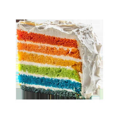 Rainbow cake: Porque para gustos, colores!