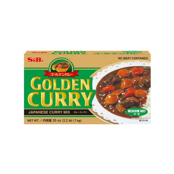 Curry Japonés Medio Picante S&B 1Kg