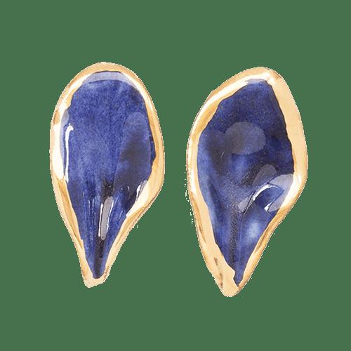Orecchini Foglia - blu