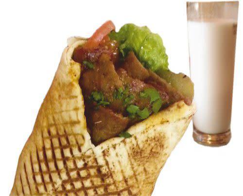2- Zestaw Kebab woł-bar super + Ayran