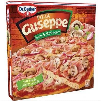 Guseppe pizza cu sunca si ciuperci 425g