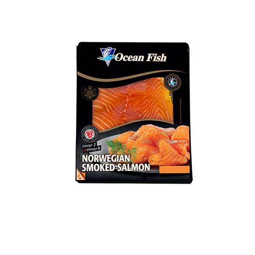 Somon file afumat Ocean Fish 100g