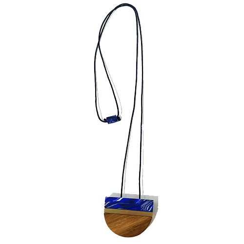 Collana semicerchio - marmo blu