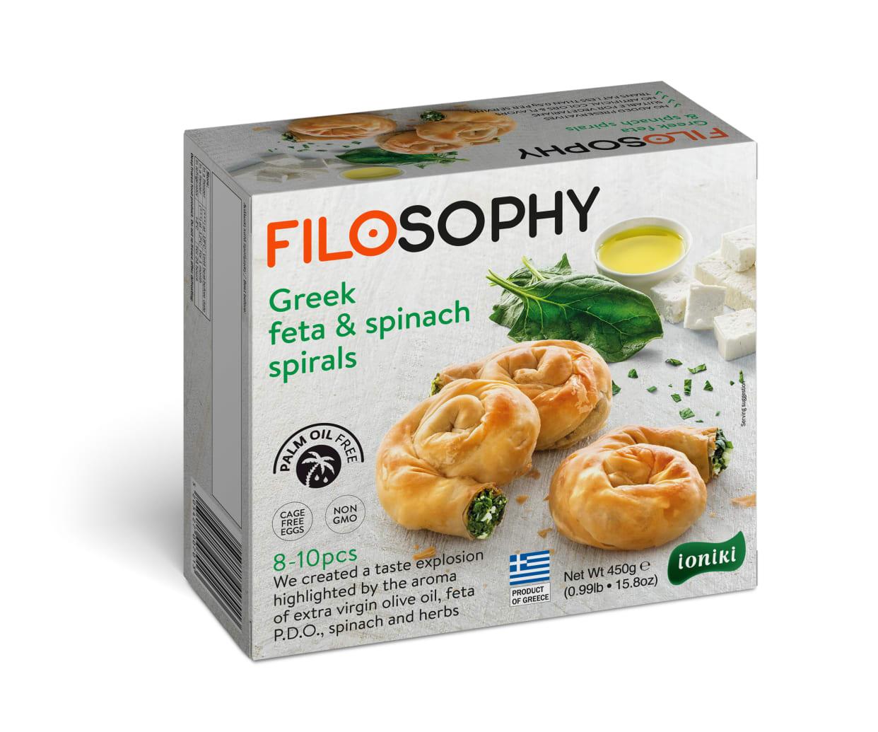 Filosophy Greek Feta & Spinach Spirals 450G