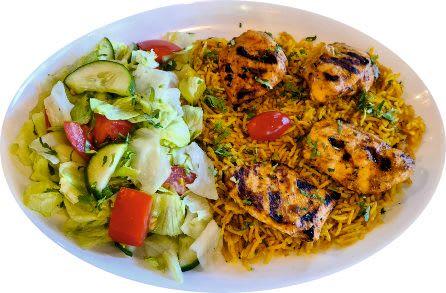 23- Zestaw Danie Kabse chicken + Baklawa pistacjowa + Ayran