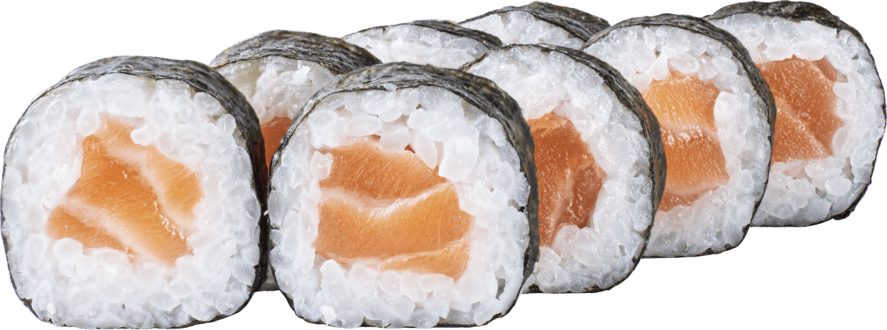Макі з копченим лососем