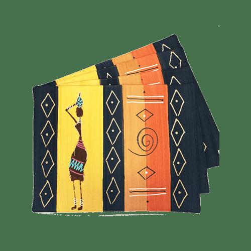 Due placemat - masai ocra