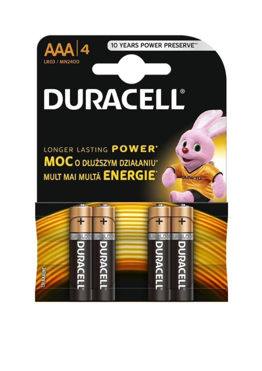 DURACELL BASIC AAA, 4/1 MN2400 LR3