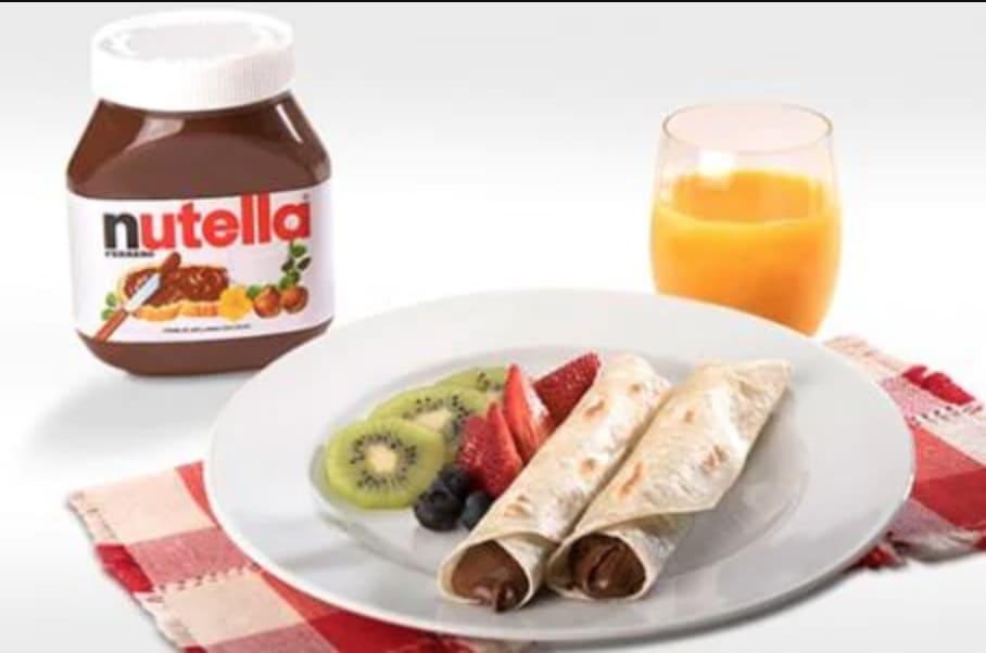 Burrito con Nutella e Kinder Bueno