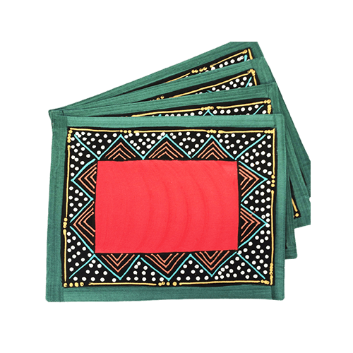 Due placemat - ndebele rosso e verde