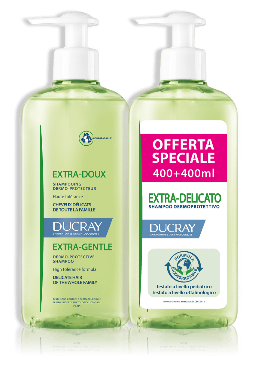 Duo Ducray Shampoo Extra Delicato 400+400Ml - Prezzo Speciale