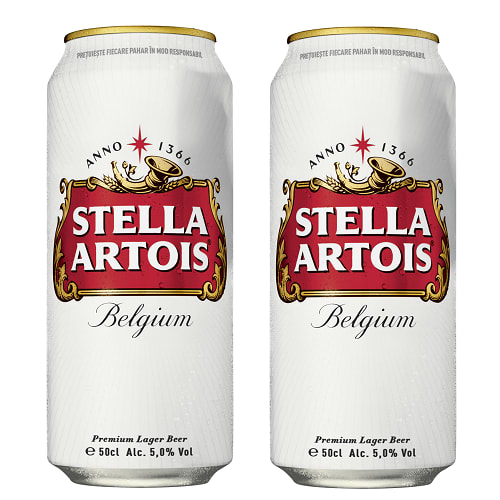 2 X Stella Artois doza 500ml