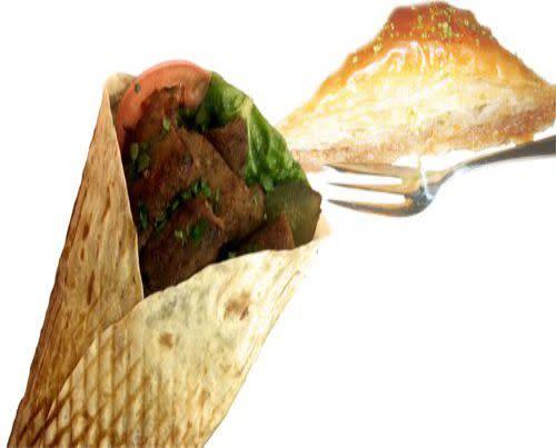 Nr 4- Zestaw Kebab woł-bar Super + baklawa orzechowa