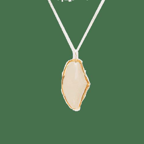 Collana Foglia - bianca