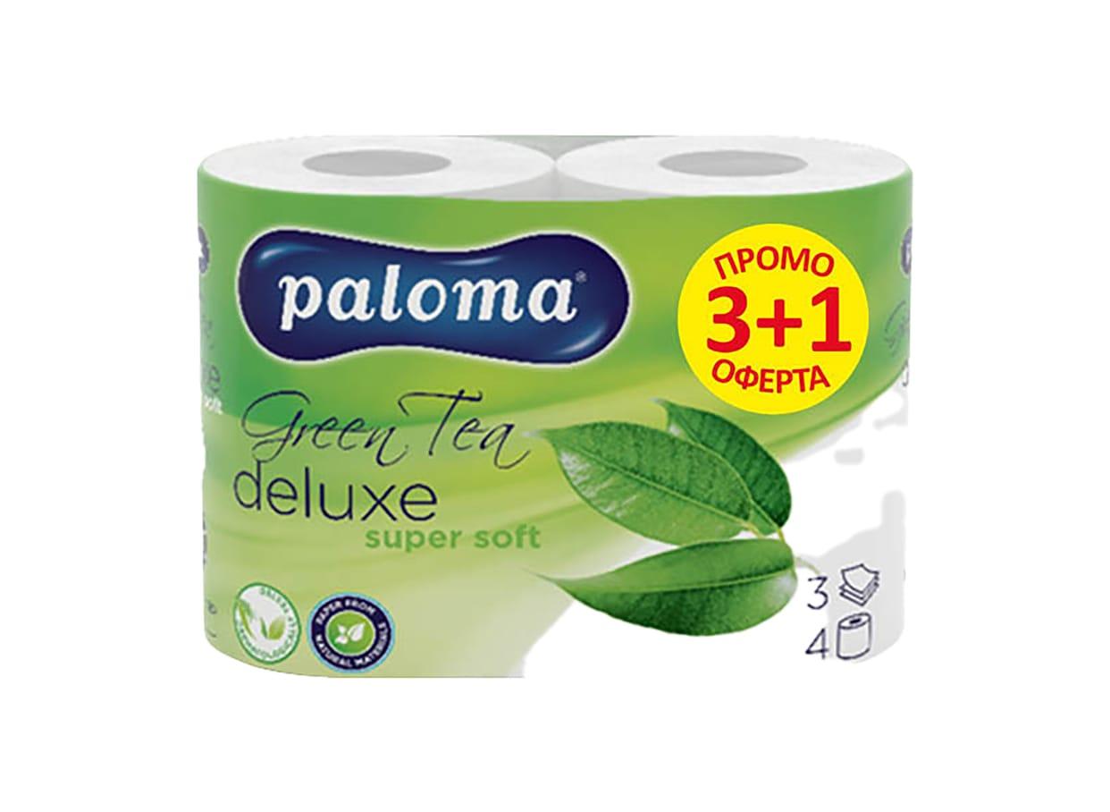 Хартия тоалетна Paloma Delux Care Grean Tea  / 30308
