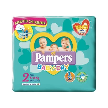 Pampers Baby Dry Mini 24 Pannolini
