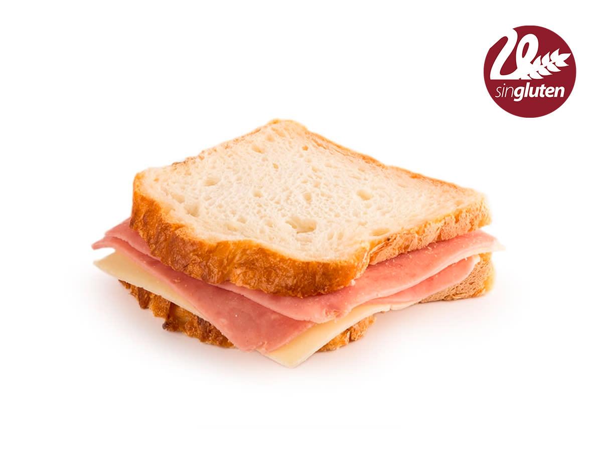 Sandwich jamón y queso sin gluten