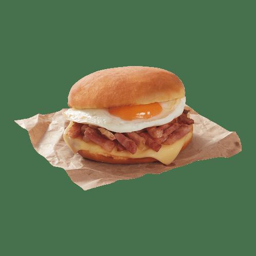 Gourmet Dunkin sándwich huevo, queso y bacon