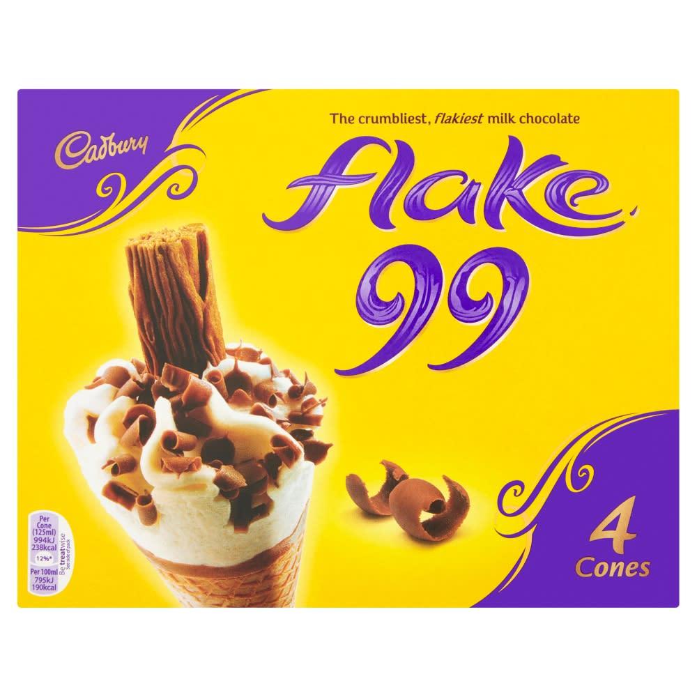Cadbury Flake 99 Cones 4X125ML