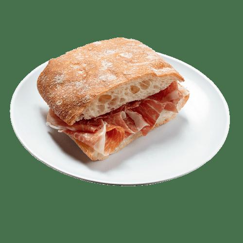 Bocadillo De Jamón De Pan De Cristal