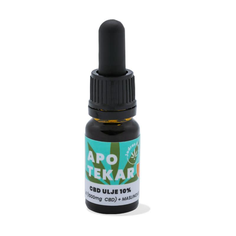 Jadran Hemp ulje CBD 10% maslina 10ml