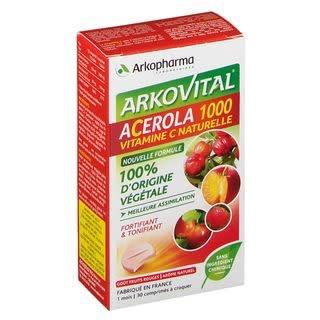 Acerola 1000 Arkopharma boîte de 30 comprimés