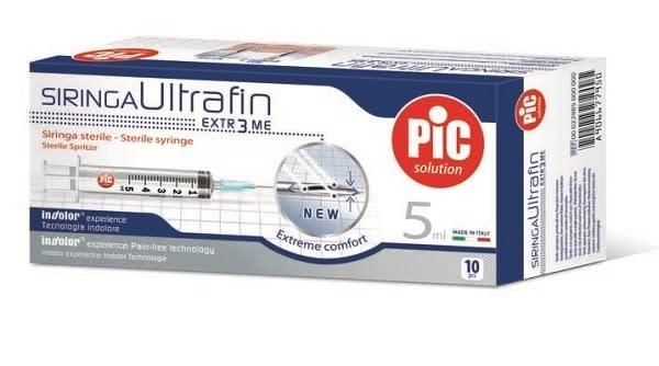 Pic Ultrafin siringhe da 5 ml 10 pezzi