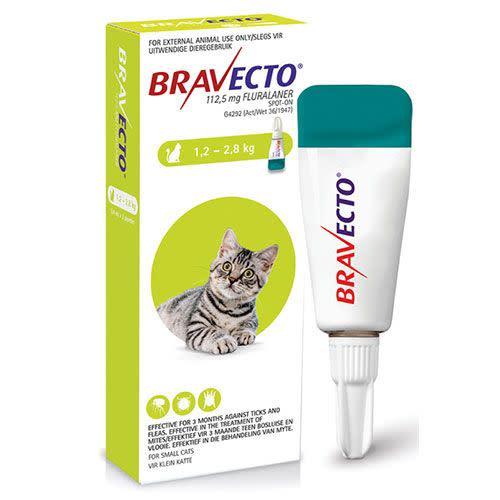 Bravecto Spot on cat 112.5Mg (1.2-2.8Kg)