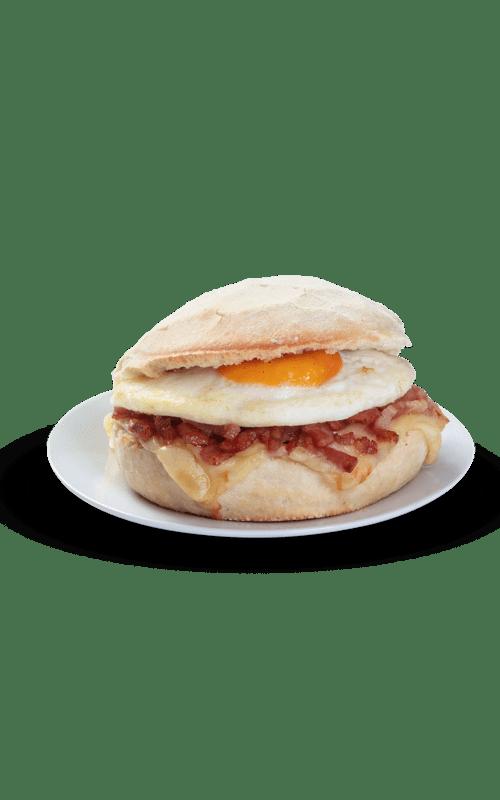 Mollete Huevo, Bacon Y Queso