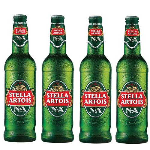 4XStella Artois Fara Alcool sticla 330ml