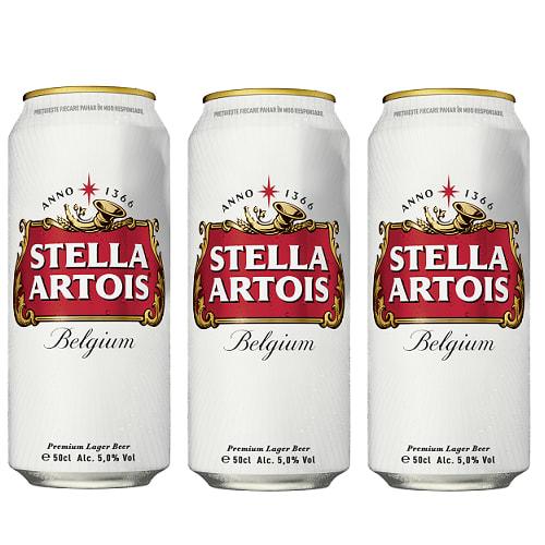 3 X Stella Artois doza 500ml