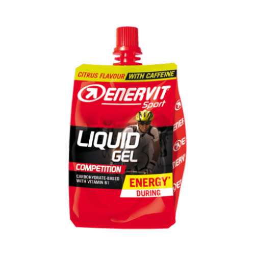 ENERVITE LIQUID GEL Competition Cheer Pack Agrumi con caffeina 1pz
