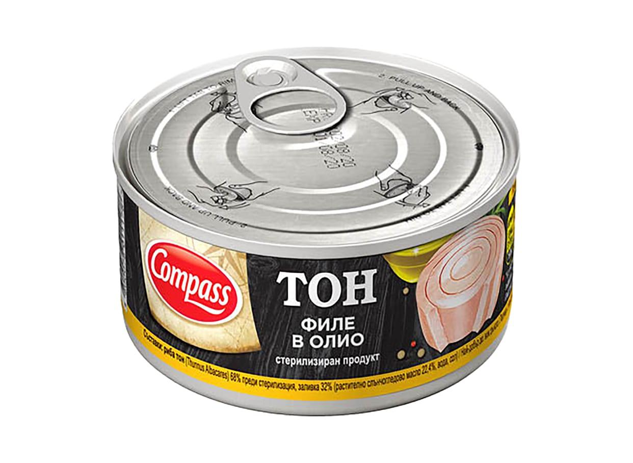 Риба тон филе в олио Компас (160г) / 15651