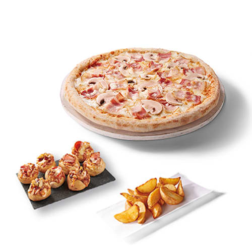 Menú para 2 pizzolinos
