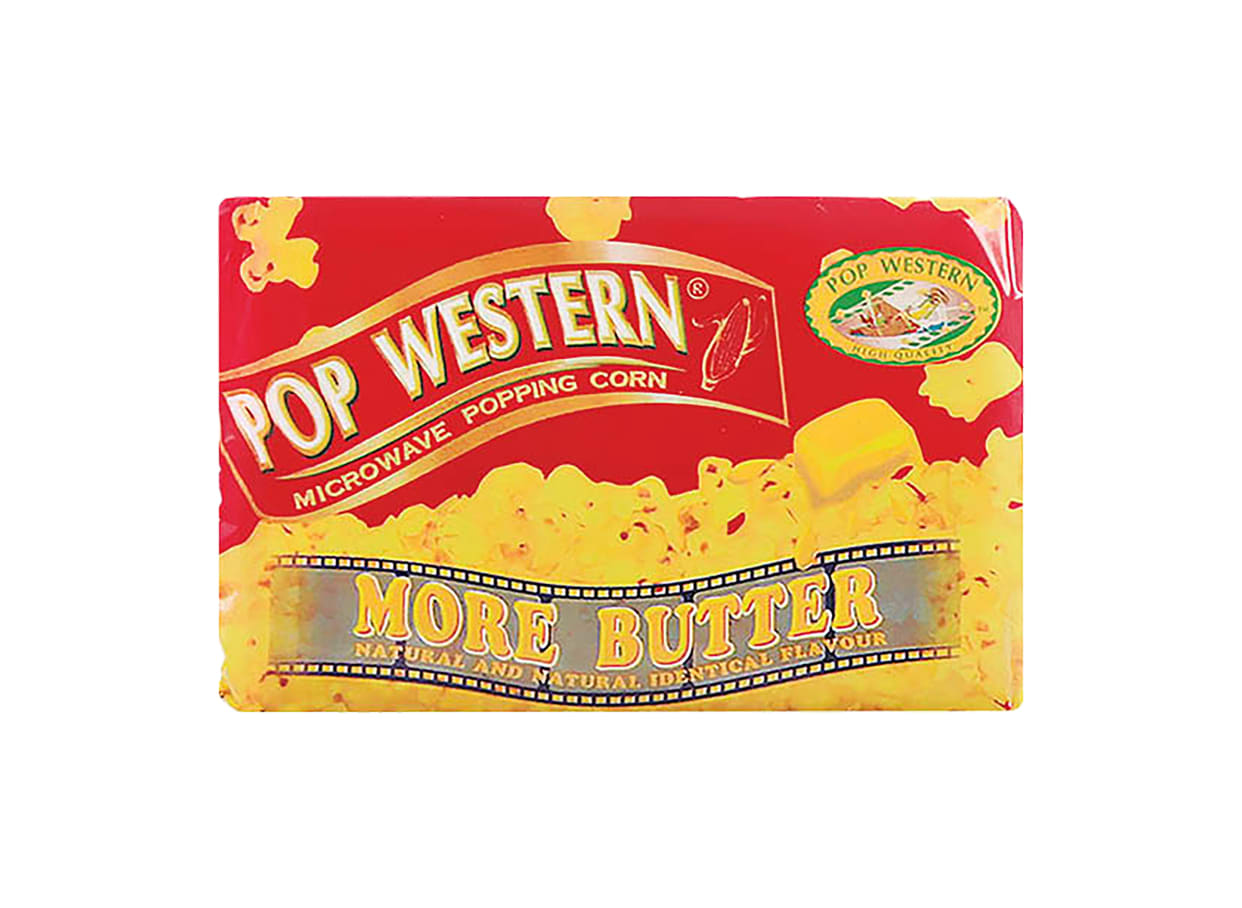 Пуканки за микровълнова Поп Уестърн повече масло (78г) / 27464