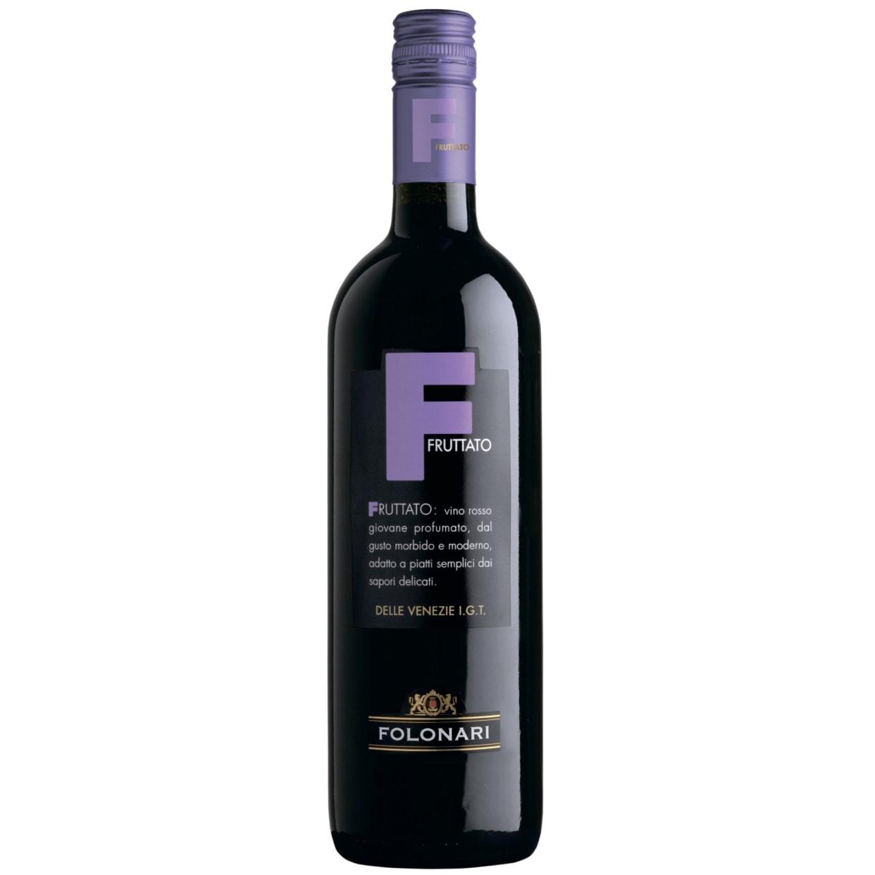 Вино Фолонари Фруттато Россо делле Венеція (0.75л)