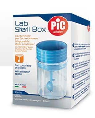 Pic Lab Steril Box contenitore per feci sterile