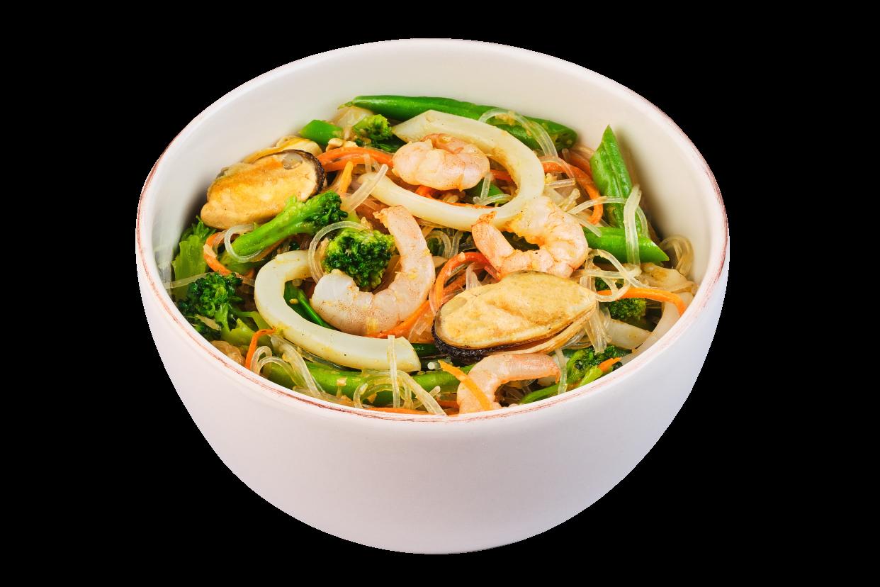 Локшина рисова з морепродуктами XL
