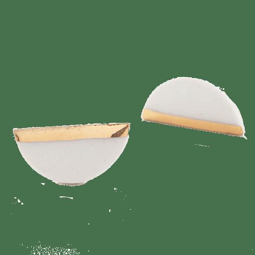 Orecchini Mezzaluna - bianchi