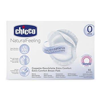 Chicco Natural Feeling coppette assorbilatte antibatteriche 60 pezzi