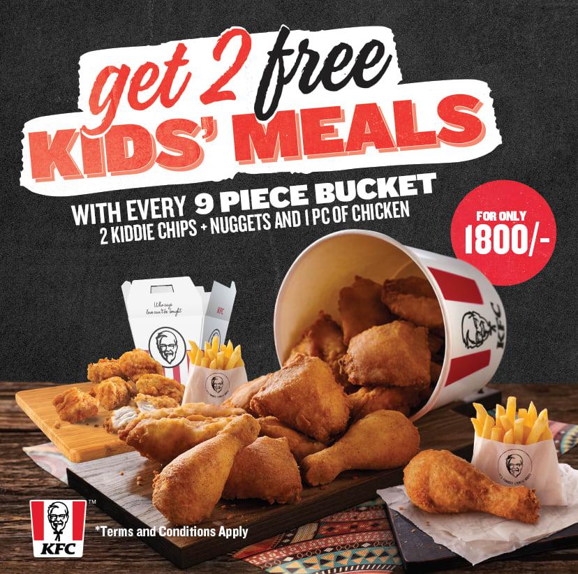 9 Piece Bucket + 2 Free Kids Meal